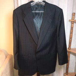 Auth Dior Suit Coat Blazer Jacket Pin Stripe 42R